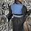 Thumbnail: Black Dress With Denim Vest