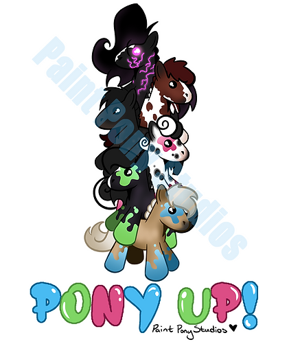 PONY UP! - Holographic Vinyl Sticker