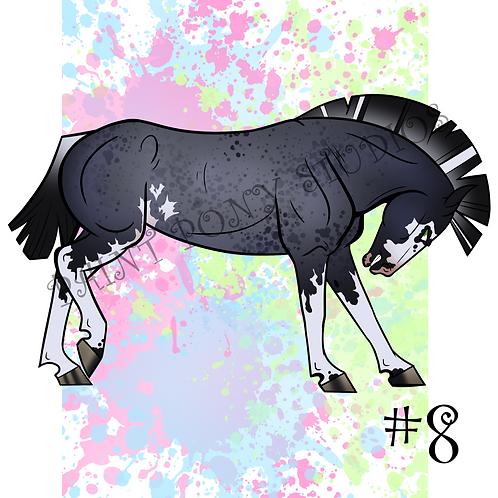 Mustang Adoptables - Blue Roan Sabino