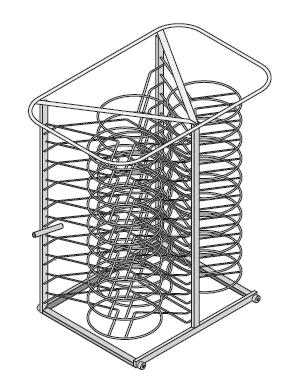 Rack móvil para platos Modelo 61-101