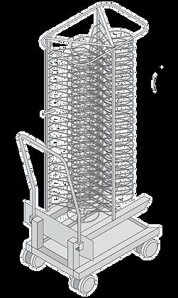 Rack móvil para platos (202 )