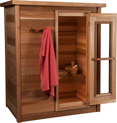 Clear Red Cedar Indoor Sauna Package | Sauna-Anywhere