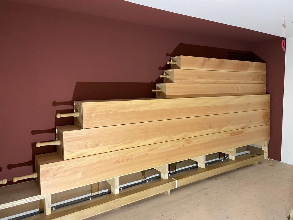 32' Pfeifen Musiksaalorgel Stadtcasino Basel eingebaut