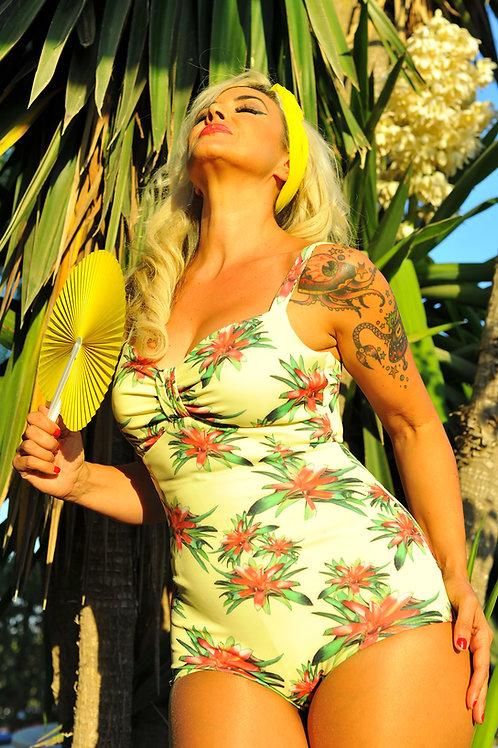 Swimsuit o body Miranda Tropical Yellow