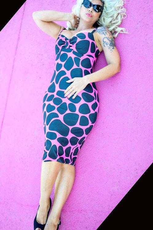 Vestido PENELOPE Giraffe Pink