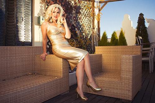 Vestido ESMERALDA dorado de 230€ - 70%= 69€