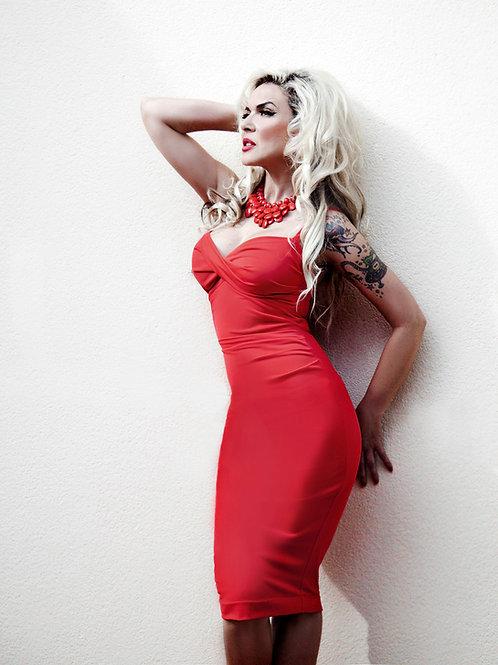 Vestido ESMERALDA rojo