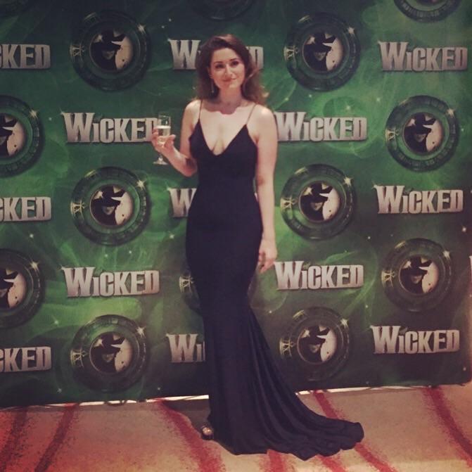 Rebecca at the Wicked 2019 Press Night