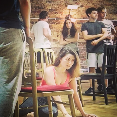 The Hired Man Rehearsal Photo