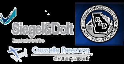 Siegel & Dolt Comprehensive Dental Care, Georgia Association of the Deaf, Crusselle Freeman Church of the Deaf logos