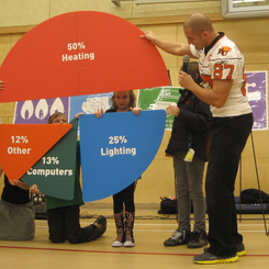 Marco Iannuzzi teams up with Fortis BC to teach elementary students about environmental responsibiliy and sustainability