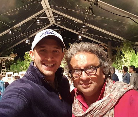 Marco Iannuzzi with world renowned chef Vikram Vij at Beach House Theatre