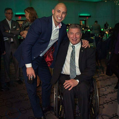 Marco Iannuzzi with Canadian legend Rick Hansen at Jewish Community Center charity gala