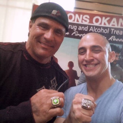 Marco Iannuzzi with MLB slugger Jose Canseco supporting AndyBhatti.com Interventions & Addiction Services