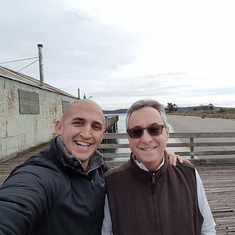Marco Iannuzzi with one of BC's all-time philanthropists Gary Segal