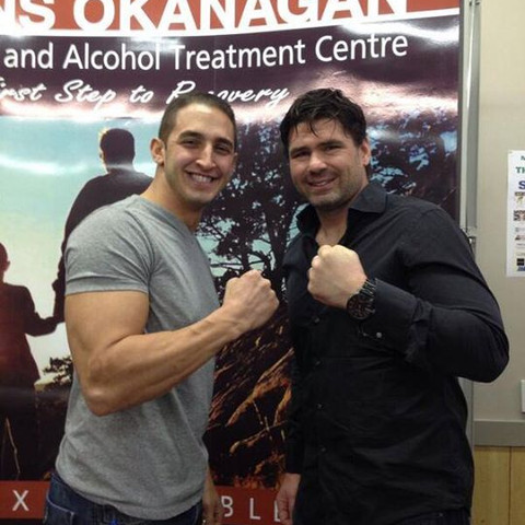 Marco Iannuzzi with MMA fighter and actor Jason Day