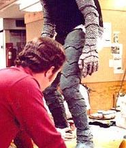 Robert Prohaska encased in the ghoul suit