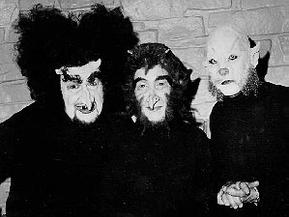 """Producer Jack Laird, dramatist Gene Kearney, and segment director Theodore J. Flicker in their demonry for """"Hell's Bells"""""""