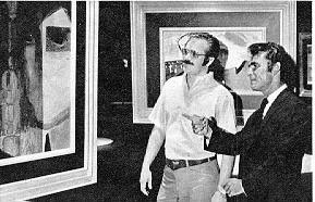 """Rod Serling inspects artist Tom Wright's canvas for """"Class of '99"""""""