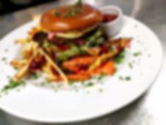 Ravintola Vista hampurilainen