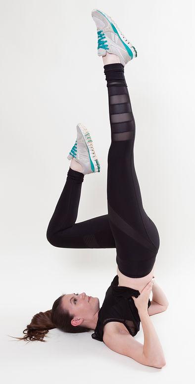 Athletic leg up pose