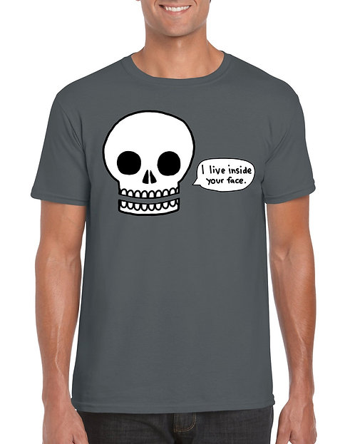 Mens T-Shirt - I live inside your face