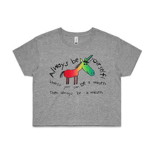 Womens Crop Top - Unicorn