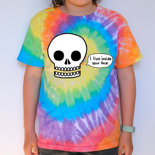 Kids Tie Dye - I Live Inside Your Face