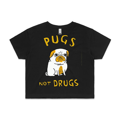 Womens Crop Top - Pugs