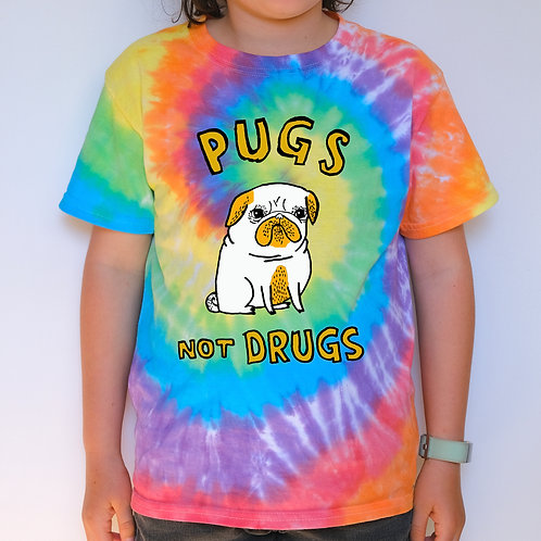 Kids Tie Dye - Pugs Not Drugs