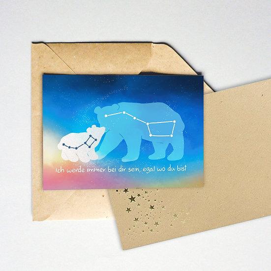 """Postkarte """"Ich werde immer bei dir sein,..."""""""