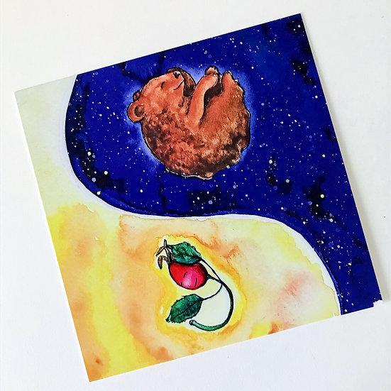 "Postkarten Print ""Yin und Yang"""
