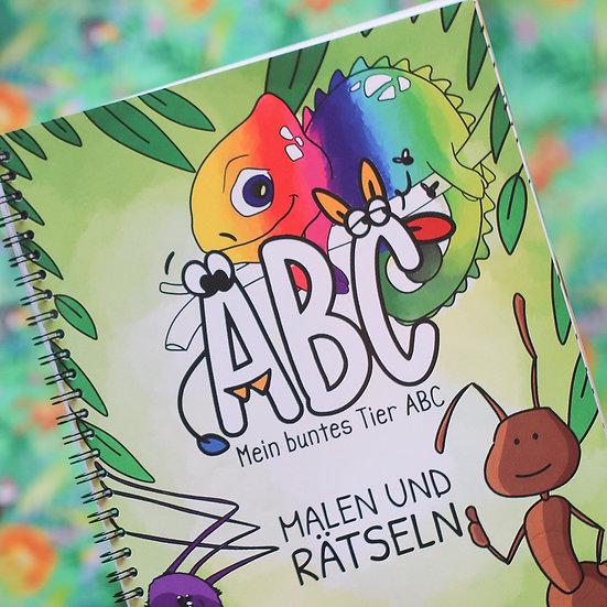 """""""Mein buntes Tier-ABC"""" Mal- und Rätselbuch"""