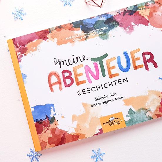 """Kreativbuch """"Meine Abenteuer Geschichten"""" + Sticker"""