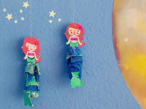 Bastelideen für Kinder: Meerjungfrauen