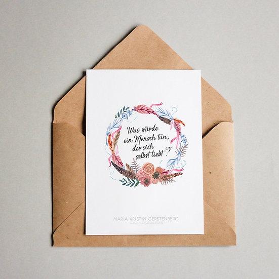 """Postkarte """"Selbstliebe"""""""