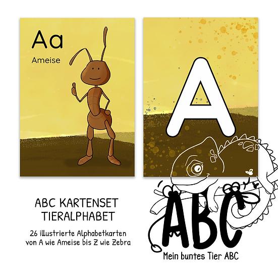 """""""Mein Tier ABC"""" Kartenset"""