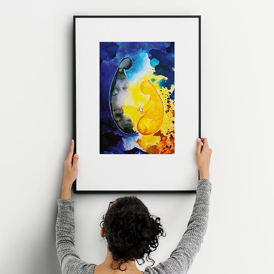 Das innere Kind - Kunstdruck