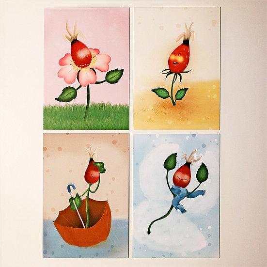 """Postkartenset """"Jahreszeiten"""""""