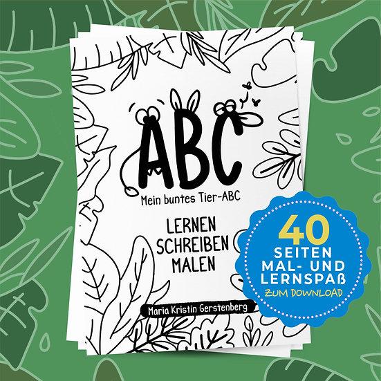 Mein Tier ABC Malbuch