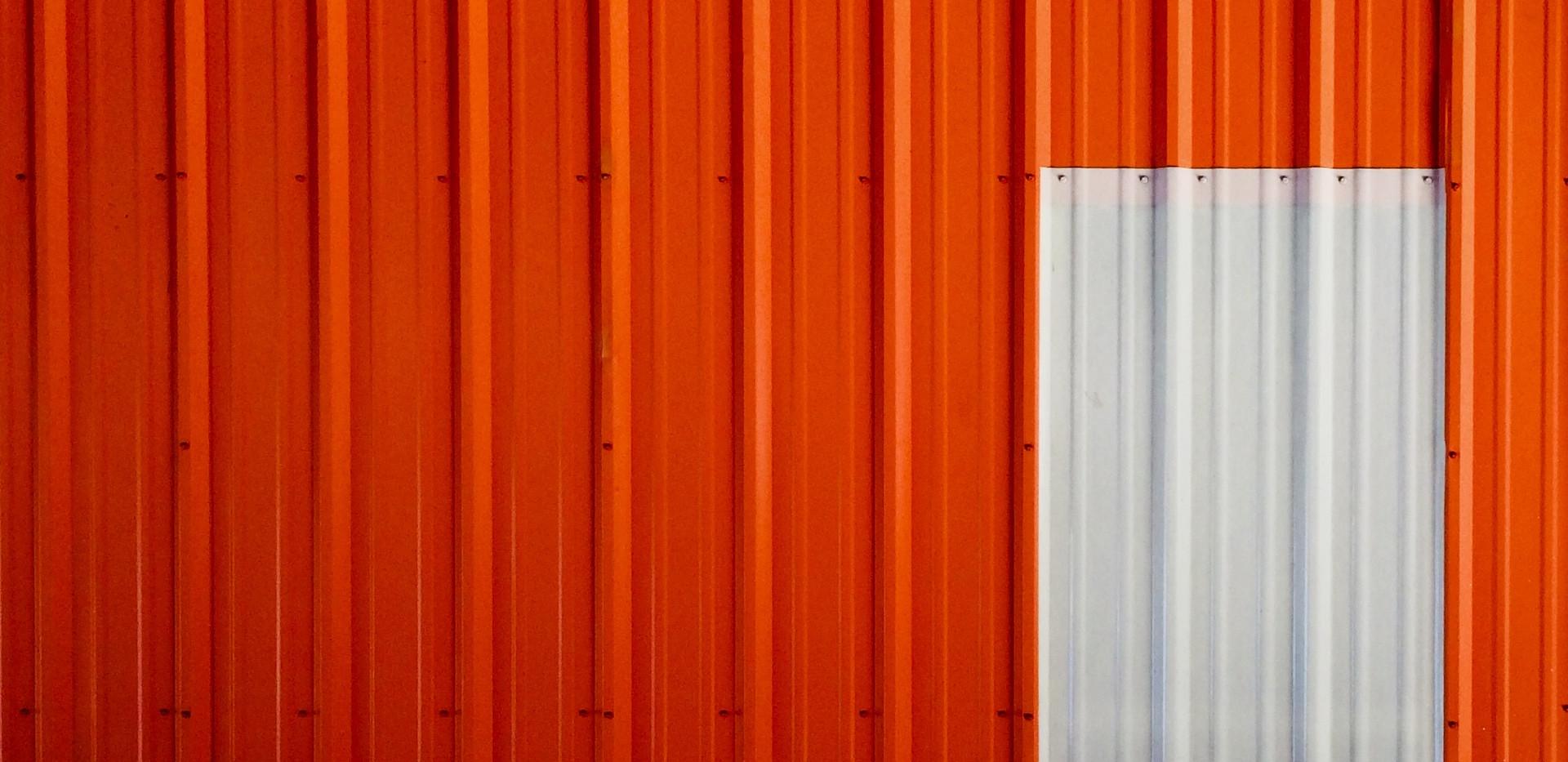 Orange meets white.
