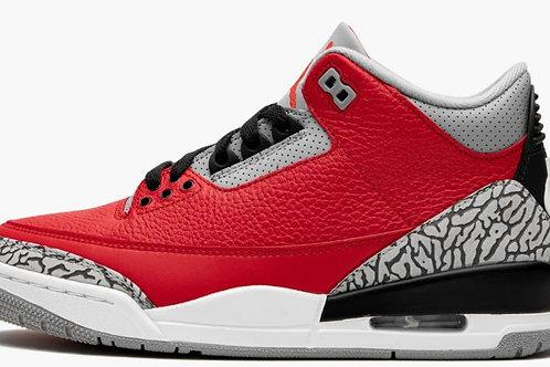 "Jordan 3 ""Red Cement"" Unite - Size 9.5"