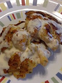 Shrimp Cakes with lemon mayo sweet sauce