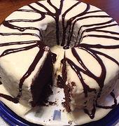 chocolate mayonnaise cake with choc syru