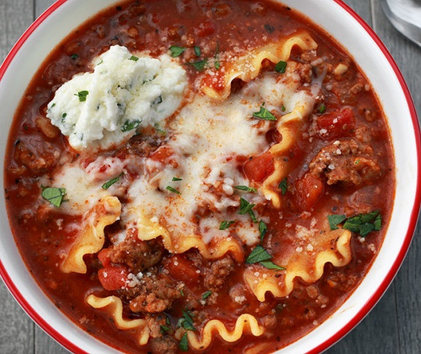 Beef Lasagna Soup