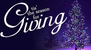 The Season of Giving is upon Us ...