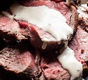 Beef Tenderloin with horseradish sauce p