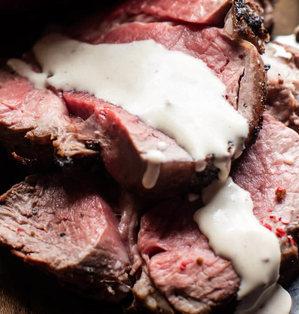 Beef Tenderloin w/ horseradish sauce