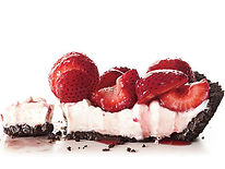 strawberry sherbert chocolate patch pie