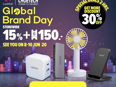 Choetech ลดราคา Gadget แบบจัดหนัก รับเต็มๆ 5 ต่อ ใน Lazada 6.8 Global Brand Day บน LazMall